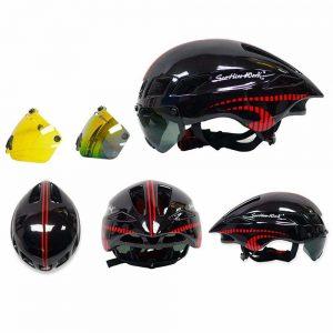 Scohiro-Work - Casco de bicicleta con gafas
